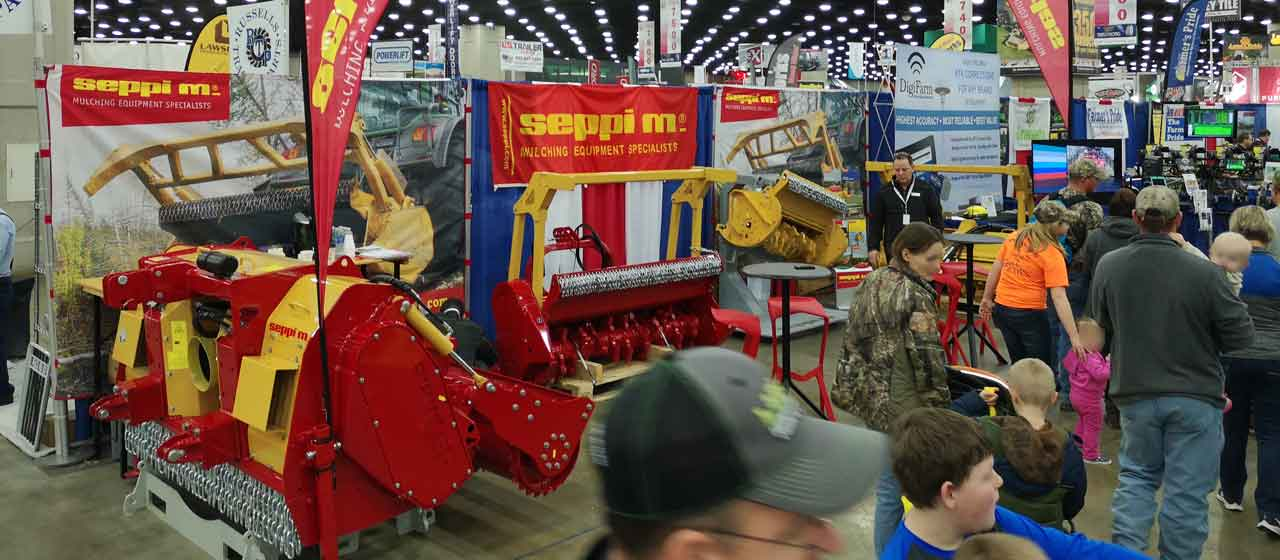 SEPPI M. booth at National Farm Machinery Show, Kentoucy USA