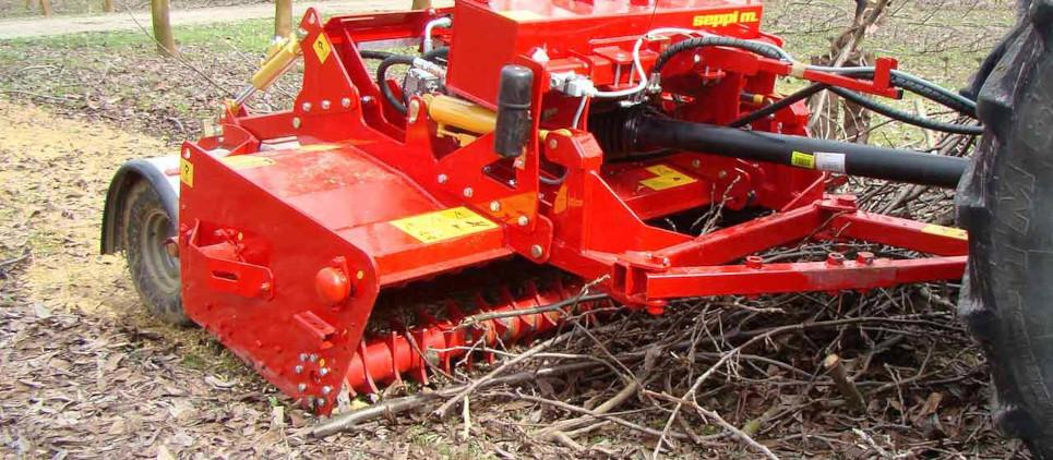mulcher with pick-up device