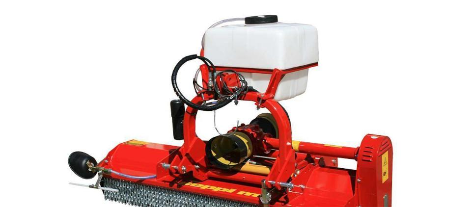 Herbicide spraying system for mulching mower