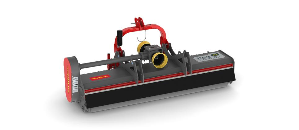 """Reversible mulcher to mulch grass and prunings up to 9 cm [3.5""""] Ø"""