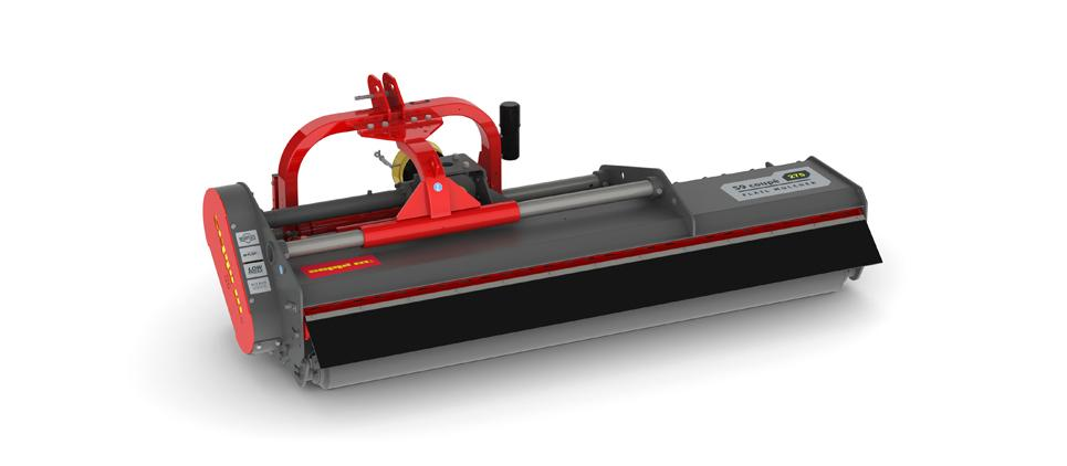 Flail mulcher with low profile