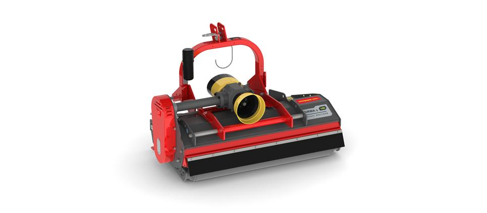 Mulching mower for orchards and vineyards.