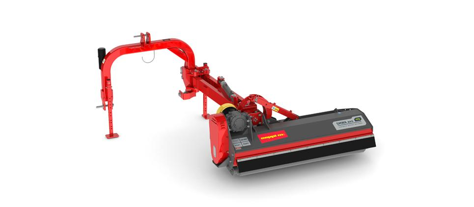Mulcher with lateral, horizontal and vertical side shift