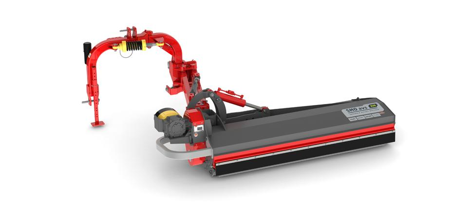 Strong road side mulcher for any working position