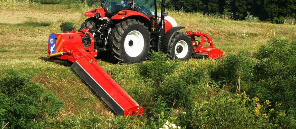 Offsetting mulcher for ditches and large areas