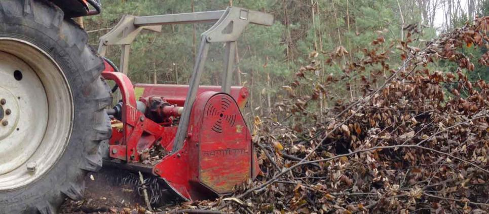 Tree Shredder for Forestry and Vegetation Management.