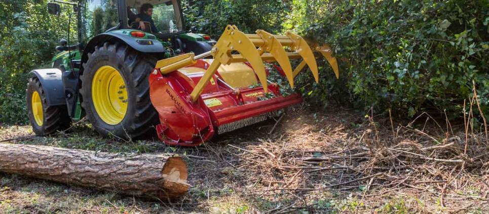 Mulcht Holz bis 40 cm Ø