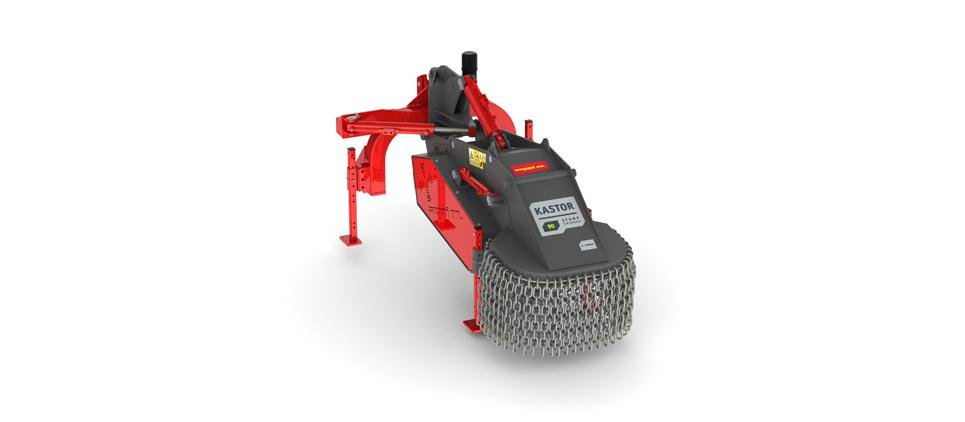 Stump grinder with rotating cutting disk.
