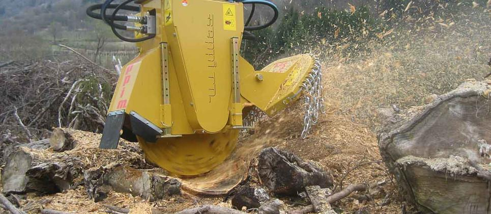 Stump grinder for excavators 15 - 30 t