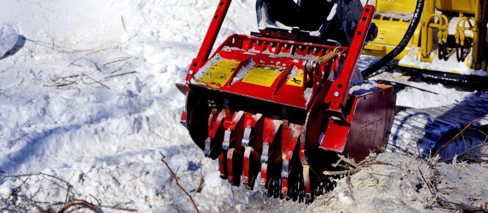 stump grinder for excavators