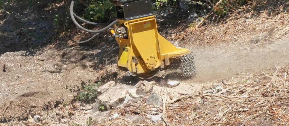 Stump grinder for small and medium excavators
