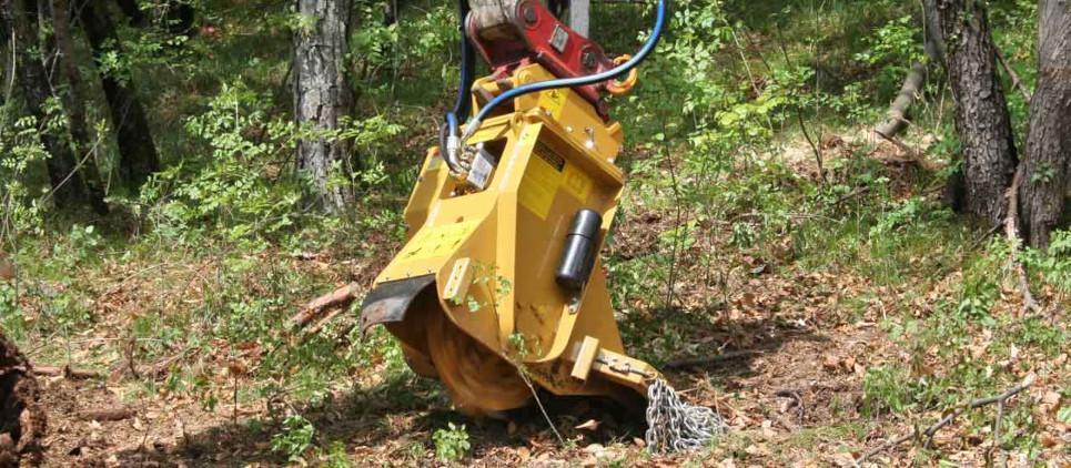 Fräst Baumstümpfe und Stubben bis zu 30 cm Tiefe