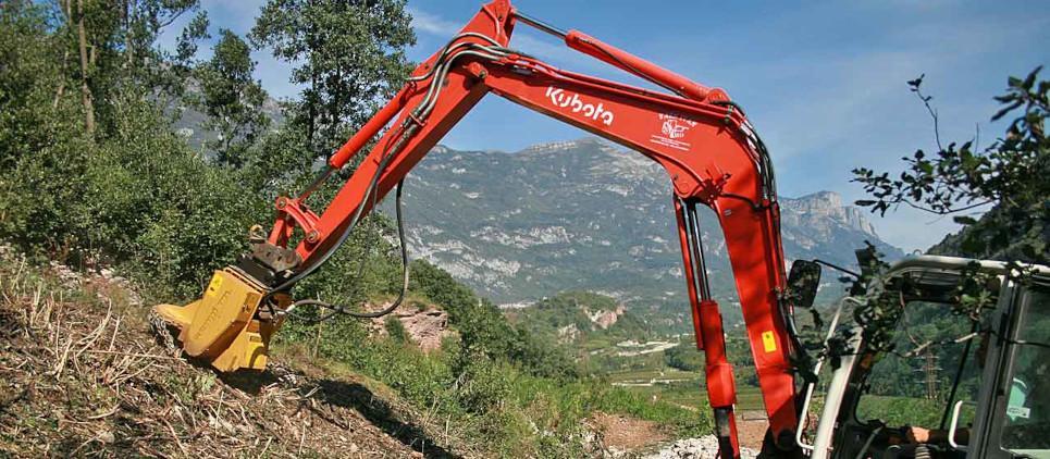 Fresa para cepas para excavadoras de 5 a 15 t