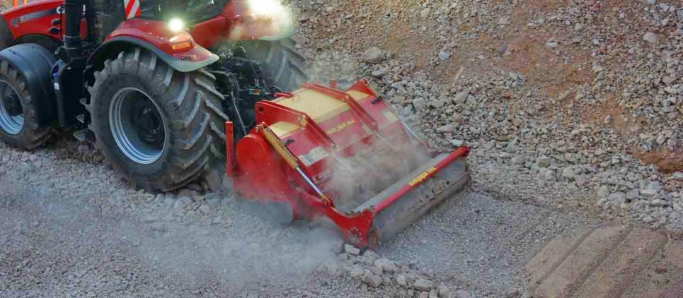 Zerkleinert Steine bis zu 30 cm Ø