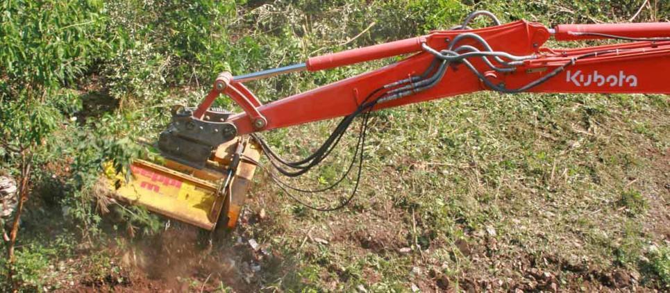 Лёгкий лесной мульчер для экскаваторов 5 - 10 тонн.