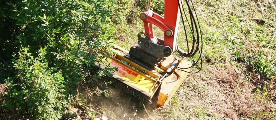 Light forestry mulcher