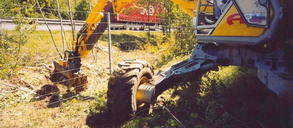 Forstmulchgerät für mittelgroße Bagger