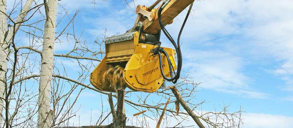 Strong mulcher - attachment for excavator