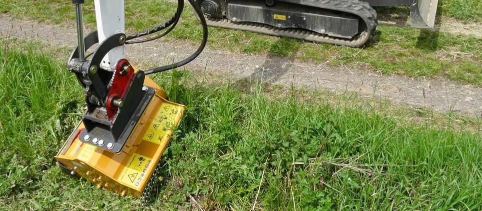 New mulching mower - attachment for mini excavators