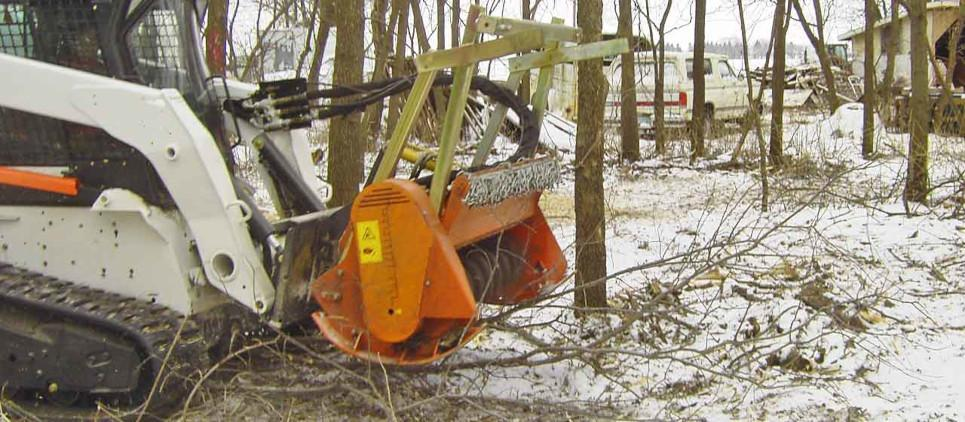 Trituradora forestal con transmisión hidráulica