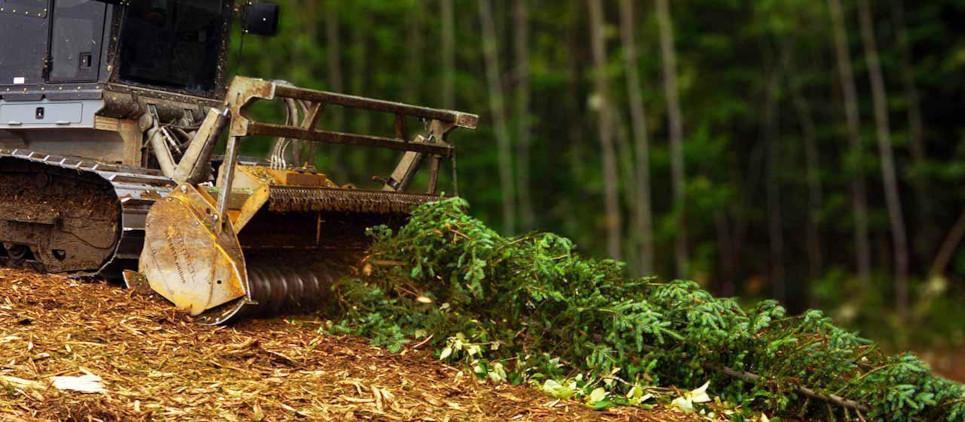 Universal forestry mulcher hyd. drive