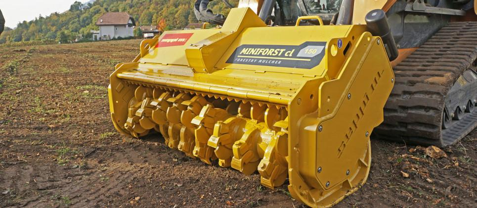 forestry mulcher for skid steer compact loaders
