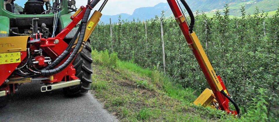 boom mounted mulcher with telescopic boom